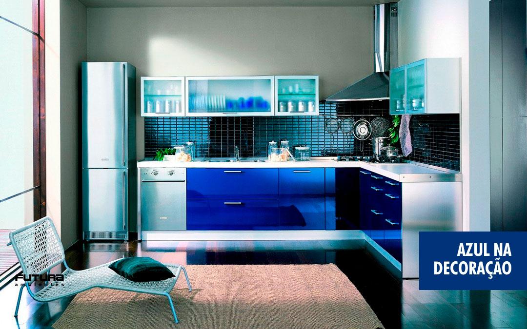 Azul na decoração é tudo de bom!